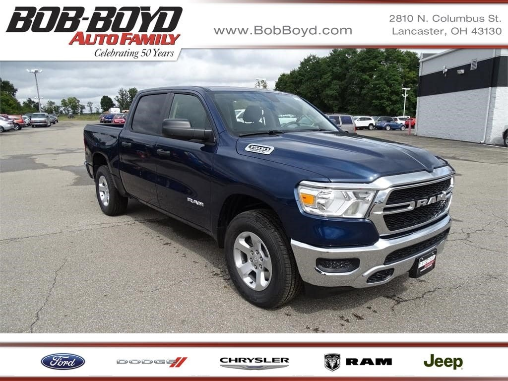 Featured 2019 Ram 1500 TRADESMAN CREW CAB 4X4 5'7 BOX Crew Cab 1C6SRFGT4KN615309 for sale in Lancaster, OH