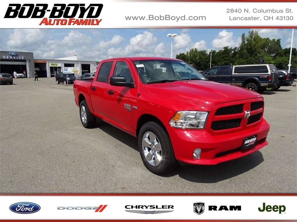 Featured New 2019 Ram 1500 Classic EXPRESS CREW CAB 4X4 5'7 BOX Crew Cab 1C6RR7KT6KS506329 for sale in Lancaster, OH