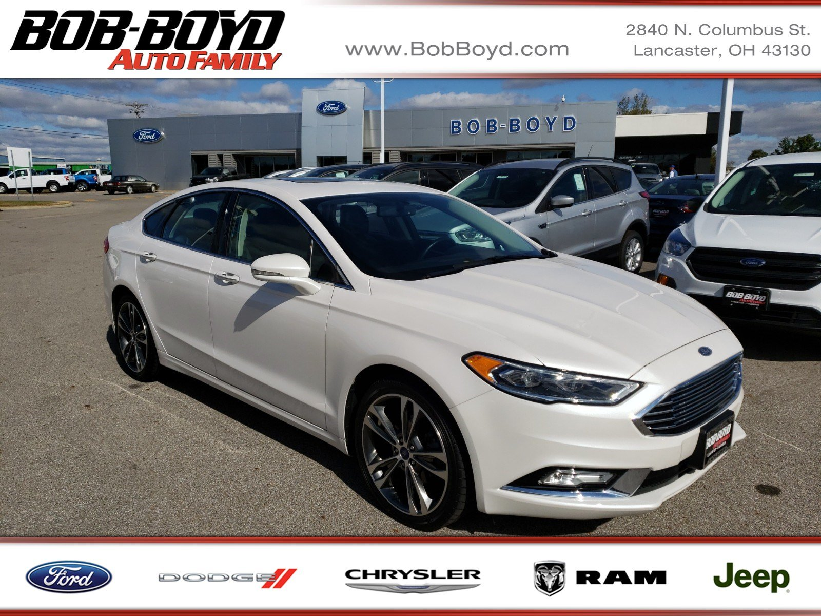 Featured Used 2017 Ford Fusion Titanium Titanium FWD for sale in Lancaster, OH