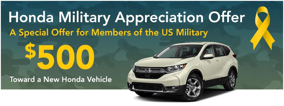 Honda Military Appreciation Offer Near Ridgeland MS