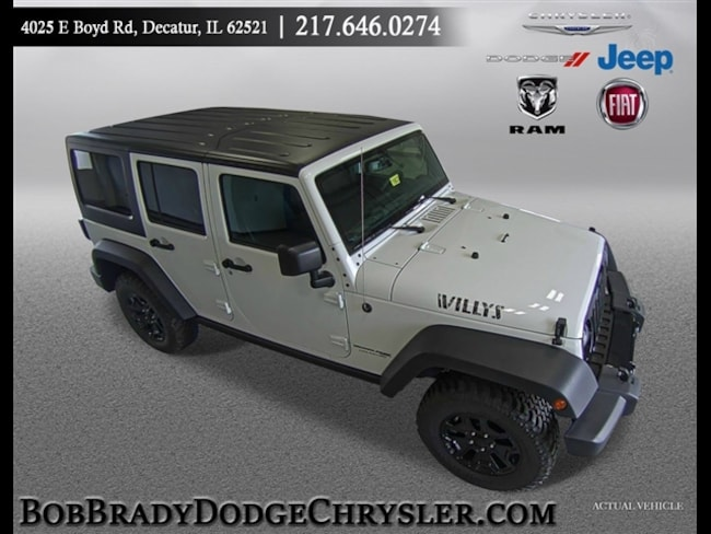 New 2018 Jeep Wrangler Unlimited WRANGLER JK UNLIMITED WILLYS WHEELER W 4X4 Sport Utility in Decatur, IL