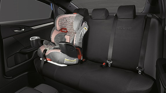 2018 Civic Si Sedan rear seat with carseat, LATCH anchors