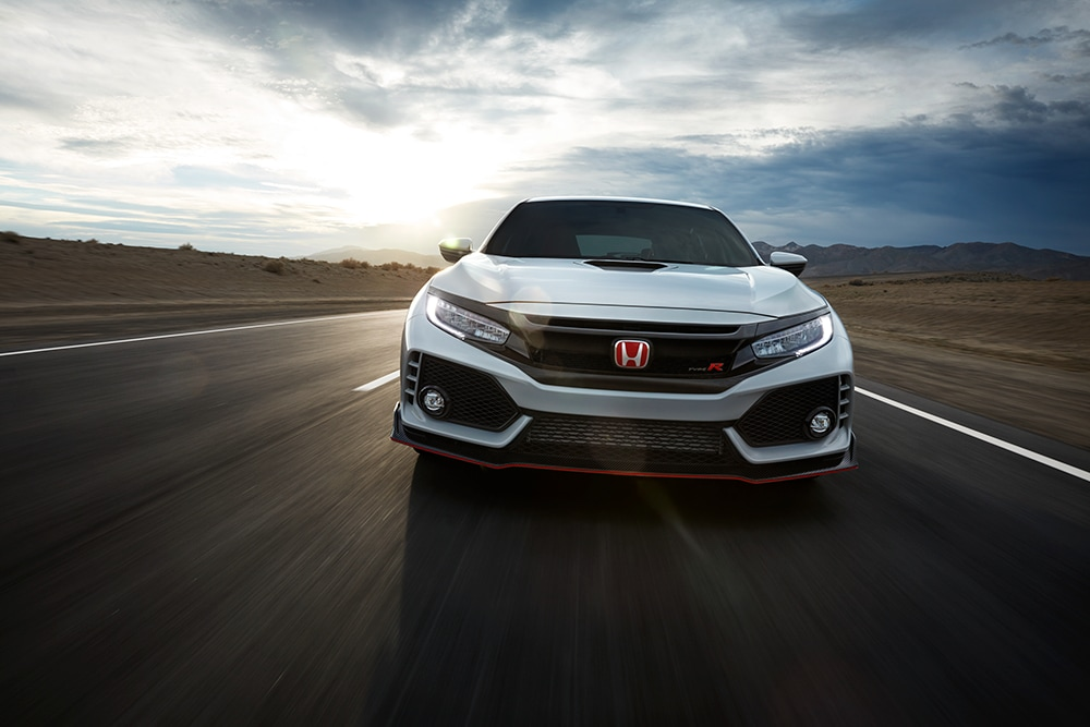 White 2018 Civic Type R front view