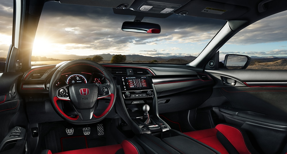 Civic Type R black and red interior