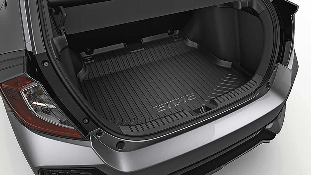 Open trunk, converted cargo space of the 2018 Civic Hatchback