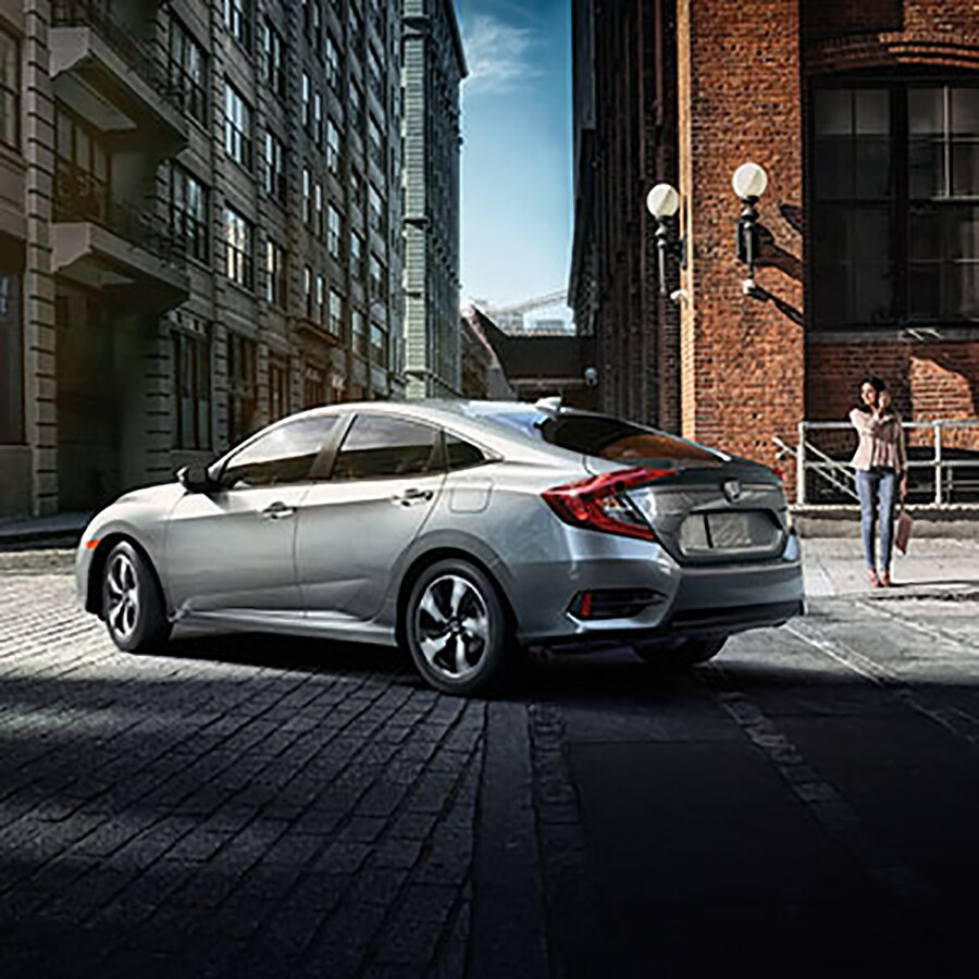 Silver 2018 Civic Sedan Side Profile