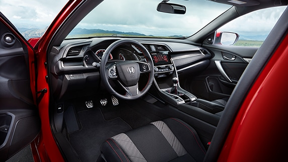 2018 Civic Si Coupe grey and black interior