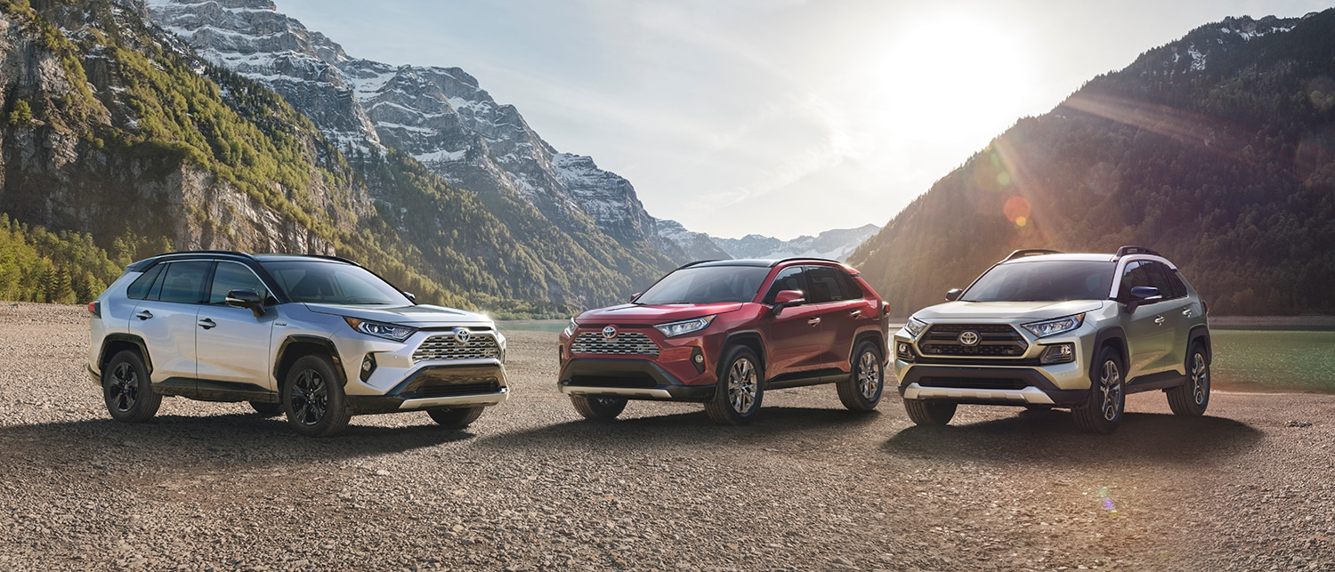 Lineup of the new 2019 Toyota RAV4 models