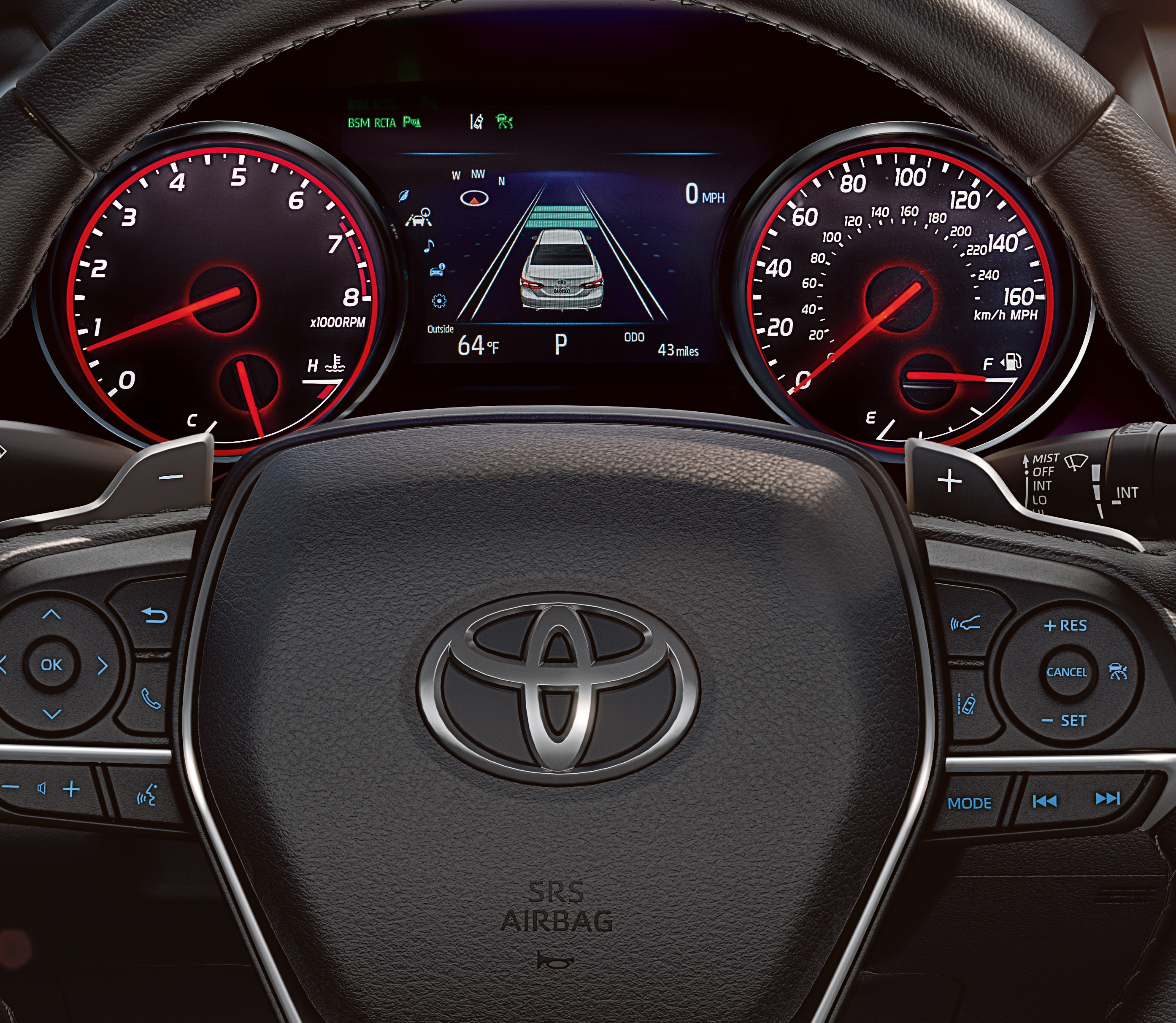 Dashboard of the 2018 Toyota Camry