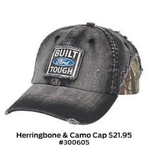 Herringbone & Camo Cap $21.95 #300605.jpg