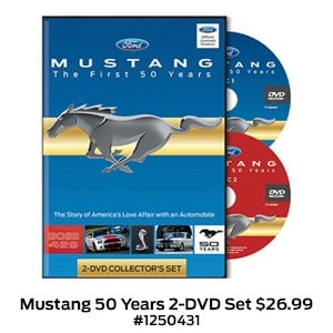 Mustang The First 50 Years 2-DVD Set $26.99 #1250431.jpg