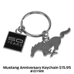 Mustang 50th Anniversary Keychain $15.95 #10YWR.jpg