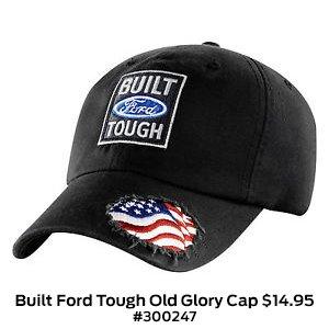 Built Ford Tough Old Glory Cap $14.95 #300247.jpg
