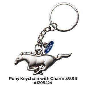 Pony Keychain with Charm $9.95 #1205424.jpg