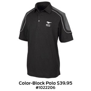 Mustang 50 Year Color-Block Polo $39.95 #1022206.jpg