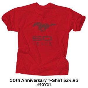 Mustang 50th Anniversary T-Shirt $24.95 #10YX1.jpg