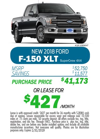 2018 F-150 SuperCrew Monthly Special