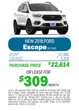 2018 Escape Monthly Special
