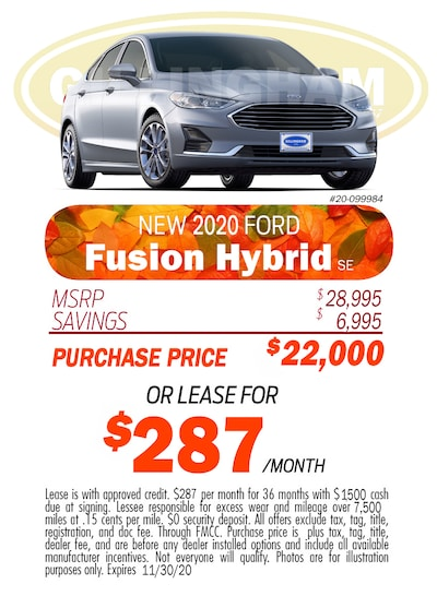 2020 Fusion Hybrid Monthly Special