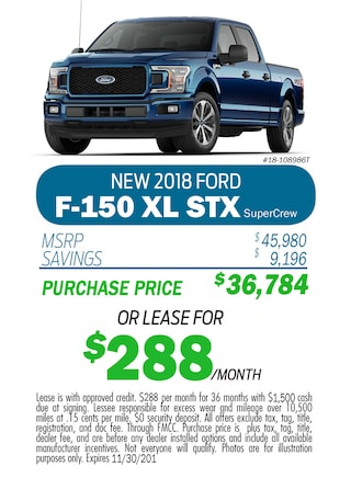 New 2018 Ford F-150 XL STX