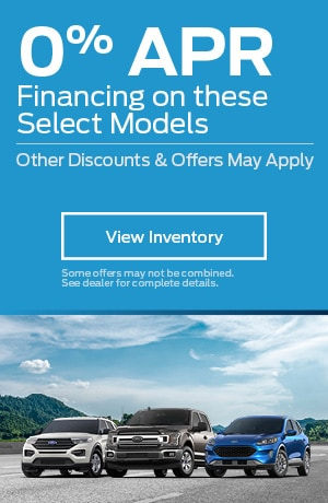 0% APR Financing on these Select Models