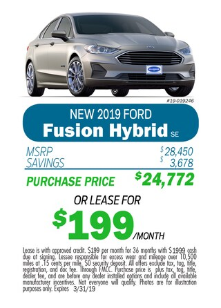 2019 Fusion Hybrid Monthly Special