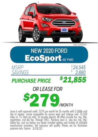Monthly 2020 EcoSport Special