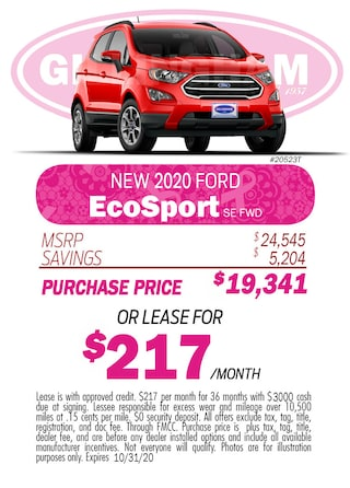 2020 EcoSport Monthly Special