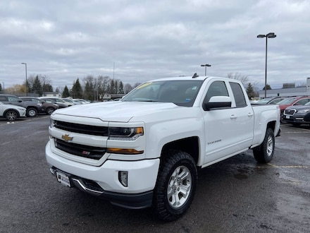 Featured Used 2018 Chevrolet Silverado 1500 LT 4WD Double Cab 143.5 LT w/2LT for Sale near Hilton, NY