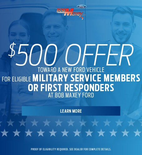 $500 Offer - Eligible Military Service Members or First Responders