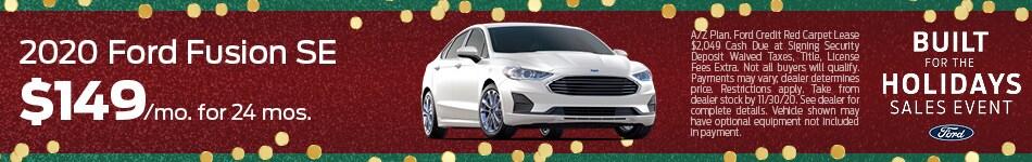 2020 Ford Fusion SE  - November 2020