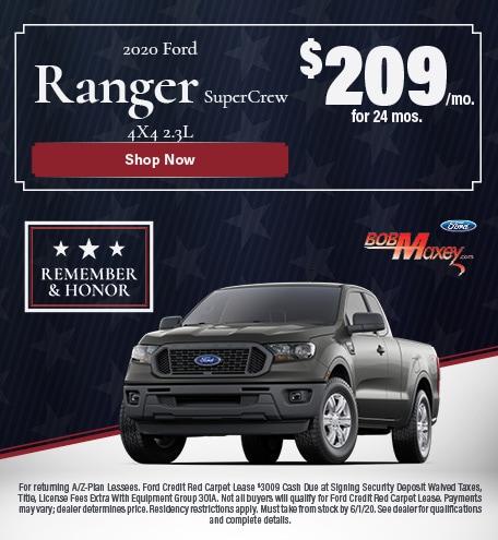 2020 Ford Ranger Supercrew Lease Offer