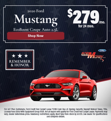 2020 Ford Mustang EcoBoost Coupe Lease Offer