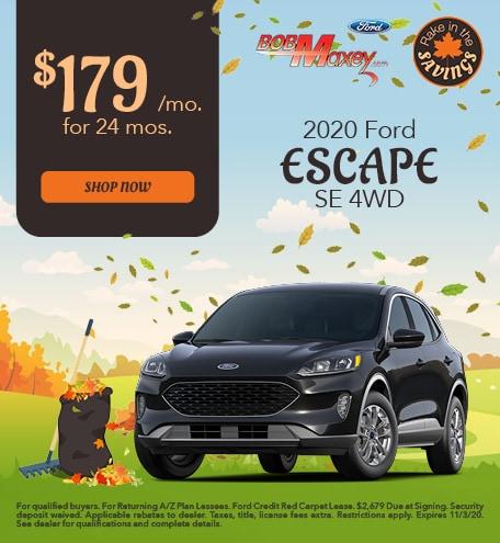 2020 Ford Escape - October 2020