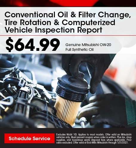 Oil & Filter Change, Tire Rotation & Computerized Vehicle Inspection Report
