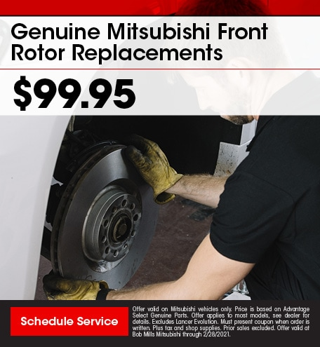 Genuine Mitsubishi Front Rotor Replacements