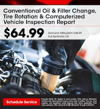 Conventional Oil & Filter Change, Tire Rotation &