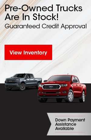 Pre-Owned Trucks Are In Stock!