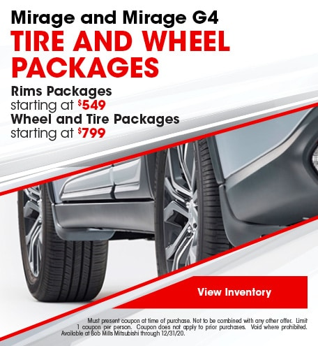 Mirage and Mirage G4 Tire and Wheel Packages