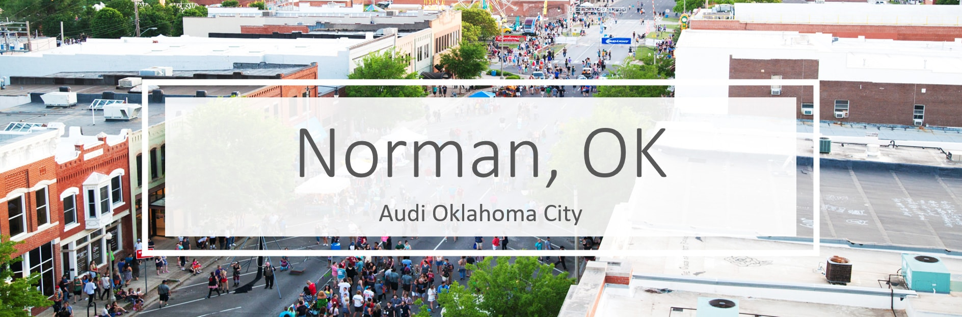New Audi vehicles and service in Norman, Oklahoma
