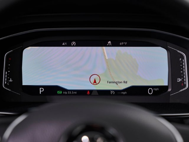 gps navigation feature behind steering wheel 2019 vw jetta