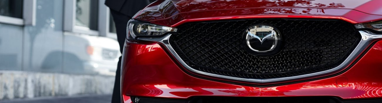 2019 Mazda CX-5 Signature Skyactiv-D exterior zoomed in on front grille