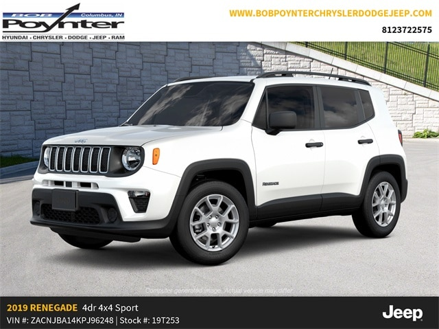 New 2019 Jeep Renegade SPORT 4X4 Sport Utility Columbus Indiana