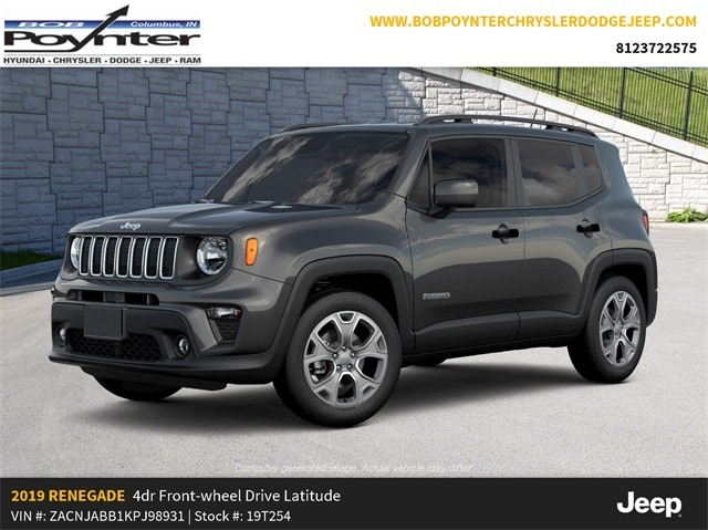 New 2019 Jeep Renegade LATITUDE FWD Sport Utility Columbus Indiana