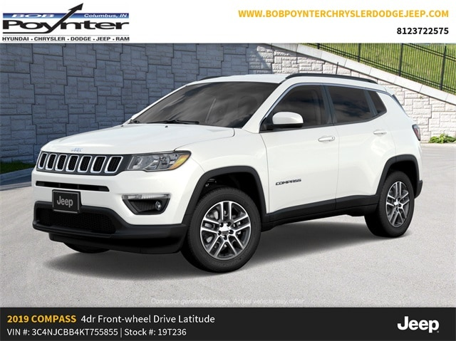 New 2019 Jeep Compass LATITUDE FWD Sport Utility Columbus Indiana