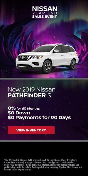 Brand New 2019 Nissan Pathfinder S