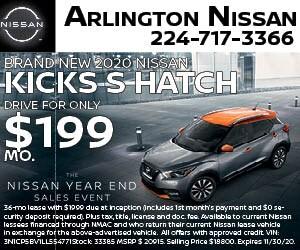 Brand New 2020 Nissan KICKS S HATCH