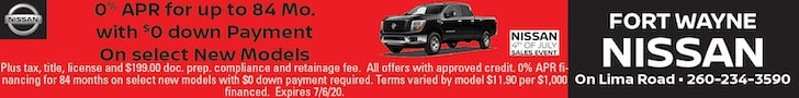 0% APR for up to 84 Mo. with $0 down Payment On select New Models