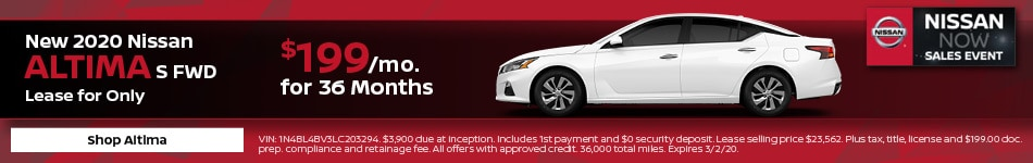 New 2020 Nissan Altima | Lease Offer