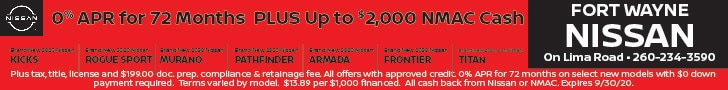 0% APR for 72 Months With $0 Down Payment PLUS Up to $2,000 NMAC Cash